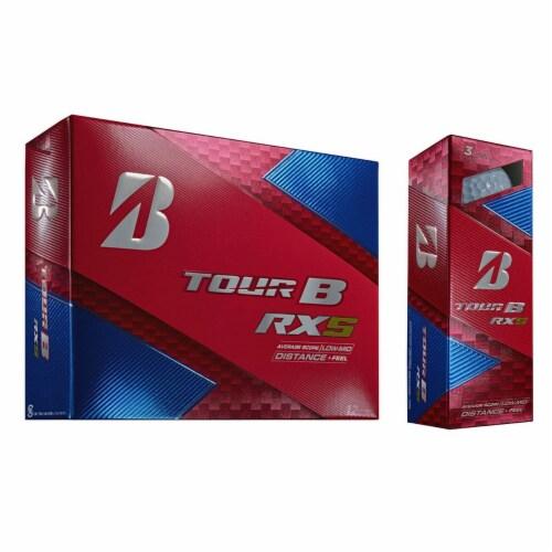 Bridgestone Tour B RXS Feel & Distance White Golf Balls Low Average Score, Dozen Perspective: top