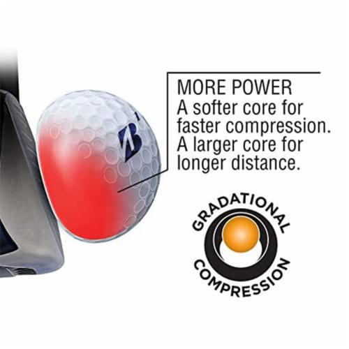Bridgestone e6 Soft Feel Core Long Distance Plastic Golf Balls, Yellow, 1 Dozen Perspective: top