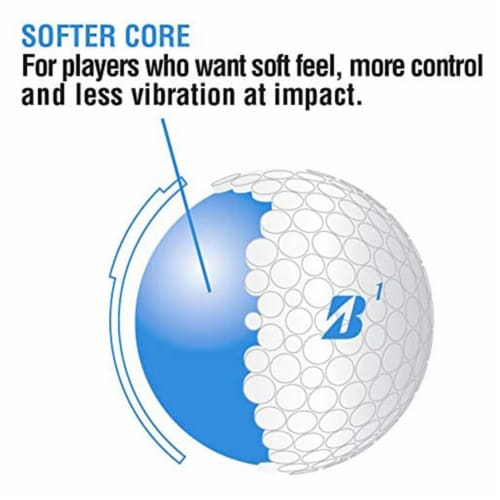 Bridgestone Golf Lady Precept Distance and Low Spin Golf Balls, Pink, 1 Dozen Perspective: top
