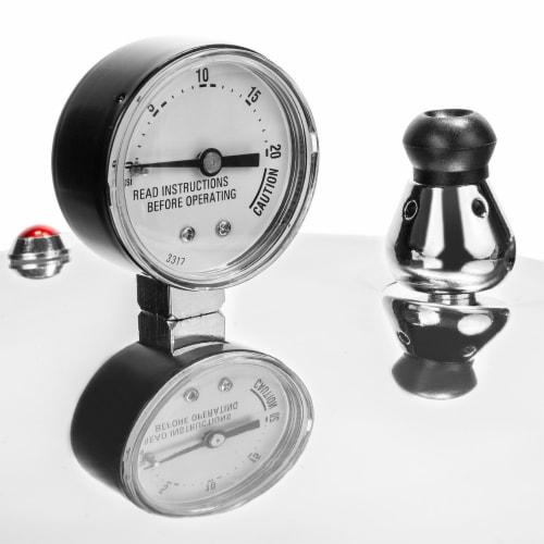 Barton 22-Quart Canner Pressure Cooker Pressure Cooker22 QT Capacity, Polished Aluminum Perspective: top