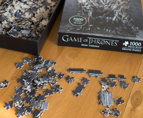 Game Of Thrones Puzzle The Iron Throne 1000 Piece Jigsaw Puzzle | Ages 15 & Up Perspective: top