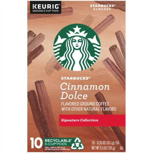 Starbucks Cinnamon Dolce Flavored Ground Coffee K-Cup Pods Perspective: top