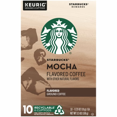 Starbucks Mocha Flavored Ground Coffee K-Cup Pods Perspective: top