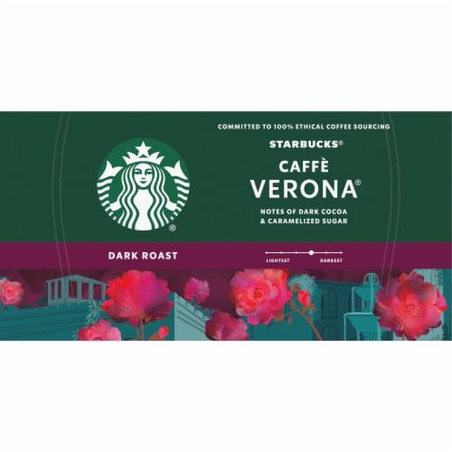 Starbucks Cafe Verona Dark Roast Ground Coffee K-Cup Pods Perspective: top