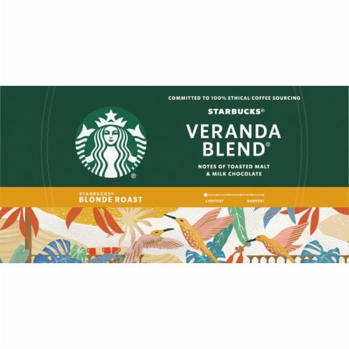 Starbucks® Veranda Blend Blonde Roast Ground Coffee K-Cup Pods Perspective: top