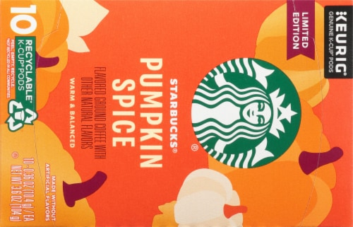 Starbucks® Limited Edition Pumpkin Spice Flavored Coffee K-Cup Pods Perspective: top
