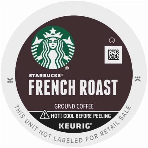 Starbucks® French Roast Dark Roast Ground Coffee K-Cup Pods Perspective: top