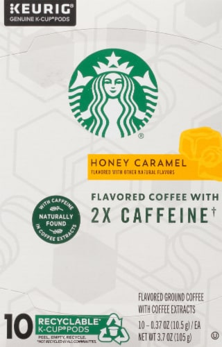 Starbucks Plus Honey Caramel Flavored Coffee K-Cup Pods Perspective: top