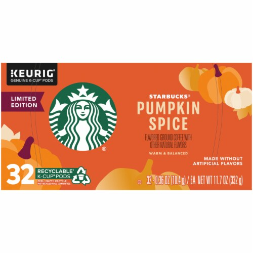 Starbucks® Pumpkin Spice Flavored Ground Coffee K-Cup Pods Perspective: top