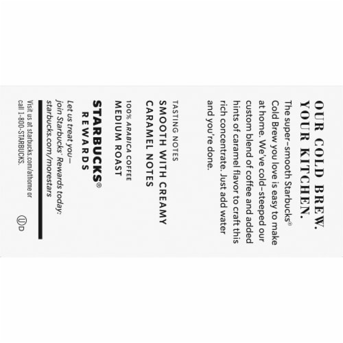 Starbucks Caramel Dolce Cold Brew Coffee Concentrate Single Serve Pods Perspective: top
