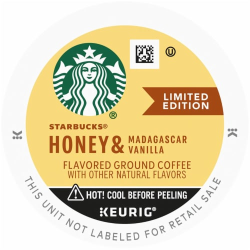 Starbucks Honey & Madagascar Vanilla Flavored Ground Coffee K-Cup® Pods Perspective: top
