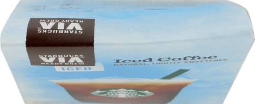 Starbucks VIA Iced Coffee Packs 5 Count Perspective: top