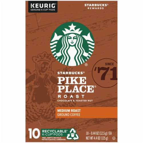 Starbucks Pike Place Medium Roast Coffee K-Cup Pods Perspective: top