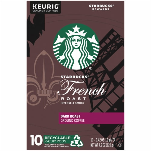 Starbucks® French Roast Dark Roast Coffee K-Cup Pods Perspective: top