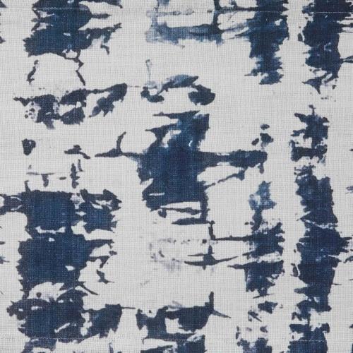 Split P Indigo Printed Placemat Set - Blue Perspective: top