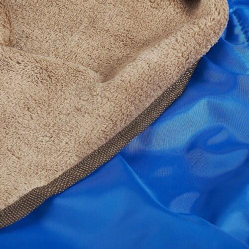 Lightspeed XL Ultra-Plush Waterproof Outdoor Stadium Blanket w/ Travel Bag, Blue Perspective: top