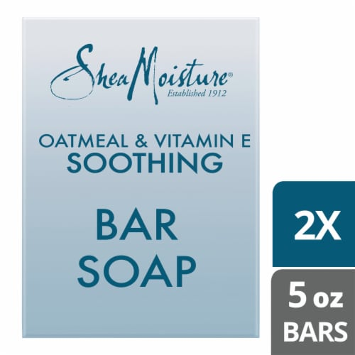 Shea Moisture Unscented Oatmeal & Vitamin E Soothing Bar Soap Perspective: top