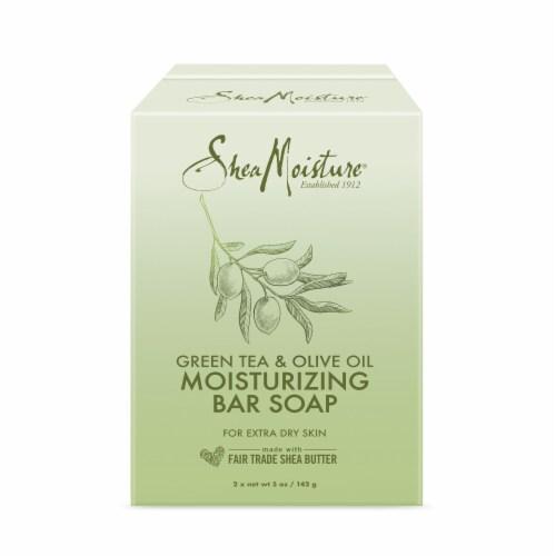 Shea Moisture Green Tea & Olive Oil Moisturizing Bar Soap Perspective: top