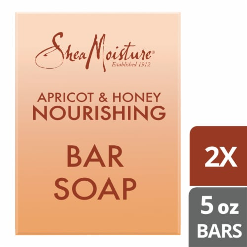 Shea Moisture Apricot & Honey Nourishing Bar Soap Perspective: top