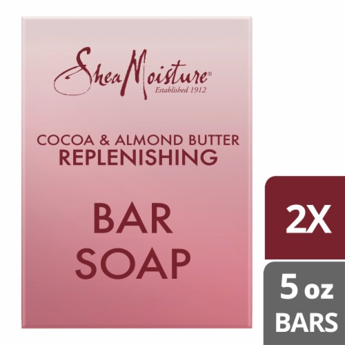 Shea Moisture Cocoa & Almond Butter Replenishing Bar Soap Perspective: top