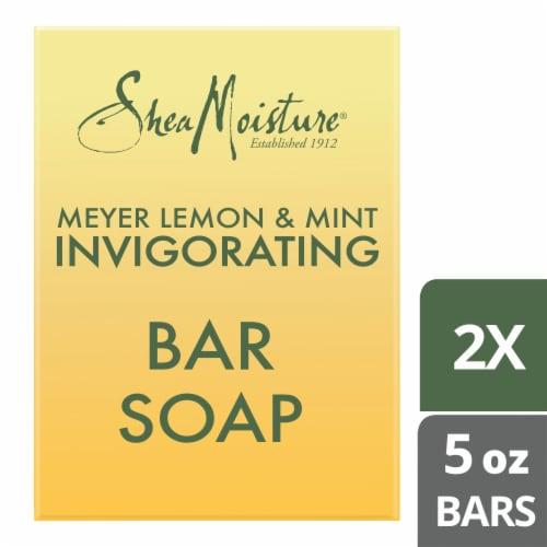 Shea Moisture Meyer Lemon & Mint Invigorating Bar Soap Perspective: top