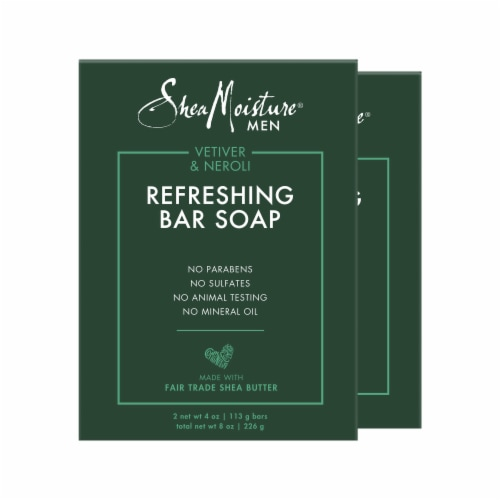 Shea Moisture Men Vetiver & Neroli Refreshing Bar Soap Perspective: top
