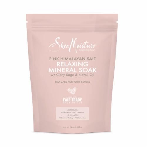 Shea Moisture Pink Himalayan Salt Relaxing Mineral Soak Perspective: top