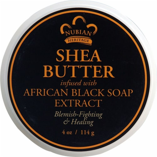 Nubian Heritage African Black Soap Infused Shea Butter Perspective: top