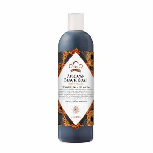 Nubian Heritage Sulfate-Free African Black Soap Detoxifying Body Wash Perspective: top