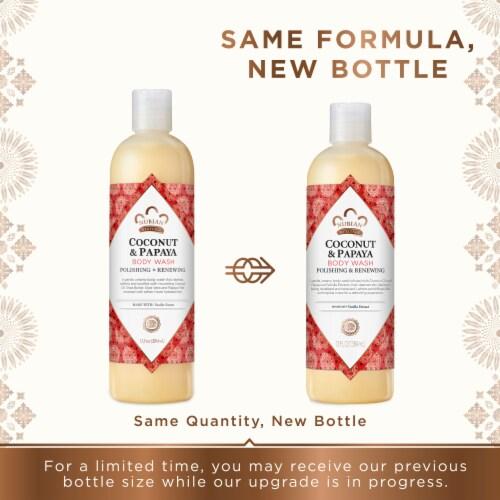 Nubian Heritage Coconut Papaya Body Wash Perspective: top
