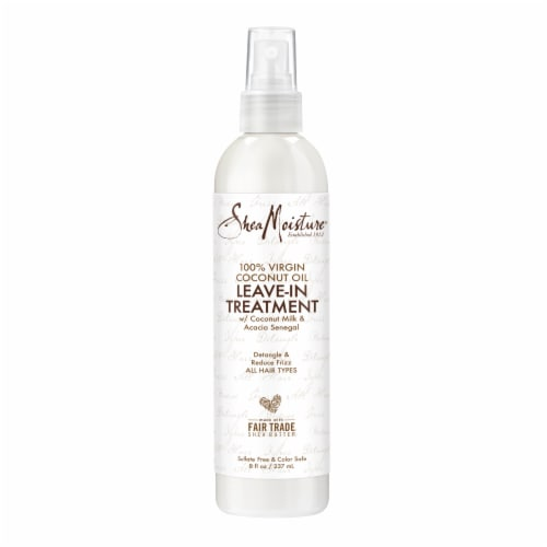 Shea Moisture® Silicone-Free 100% Virgin Coconut Oil Leave-in Conditioner Treatment for All Hair Perspective: top