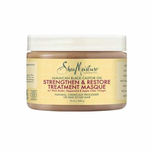 Shea Moisture® Paraben-Free Jamaican Black Castor Oil Treatment Hair Mask for Dry Hair Perspective: top