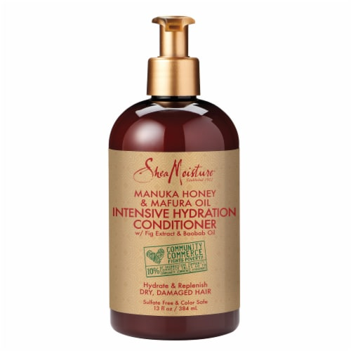 Shea Moisture Manuka Honey & Mafura Oil Intensive Hydration Conditioner for Damaged Hair Perspective: top