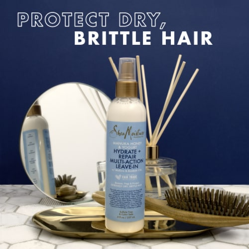 Shea Moisture® Silicone-Free Manuka Honey & Yogurt Mutli-Action Leave-in Hair Care for Damaged Hair Perspective: top
