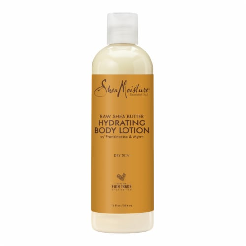 Shea Moisture Raw Shea Butter with Frankincense and Myrrh Hydrating Body Lotion Perspective: top