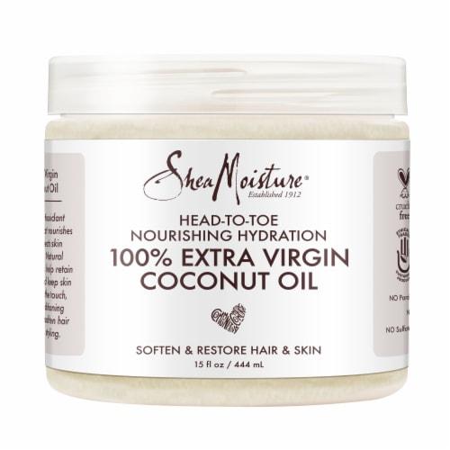 Shea Moisture® Head-To-Toe 100% Extra Virgin Pure Coconut Oil Nourishing Hydration Perspective: top