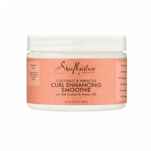 Shea Moisture® Sulfate-Free Coconut & Hibiscus Smoothie Curl Enhancing Cream for Curly Hair Perspective: top