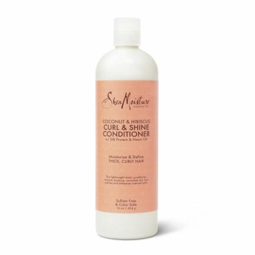 SheaMoisture Coconut & Hibiscus Curl & Shine Conditioner Perspective: top