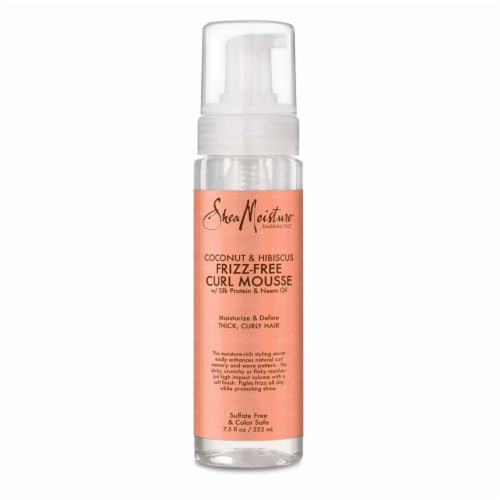Shea Moisture® Coconut & Hibiscus with Shea Butter Frizz Control Curl Mousse for Curly Hair Perspective: top