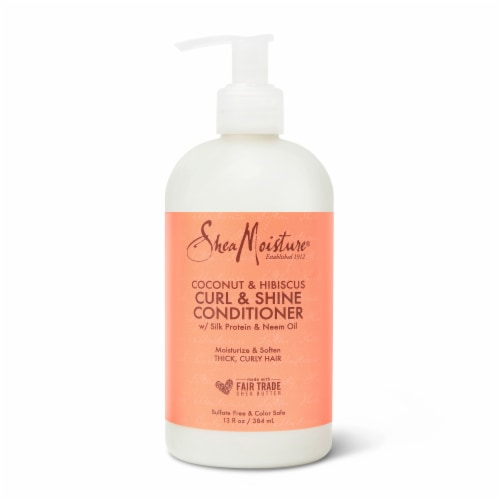 SheaMoisture® Silicone-Free Curl Shine Coconut Hibiscus Conditioner for Curly Hair Perspective: top