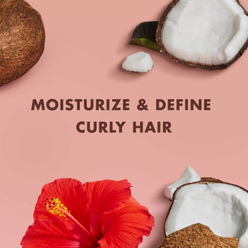 Shea Moisture® Kids Coconut & Hibiscus Curl Styling Cream & Detangle for Curl Definition Perspective: top