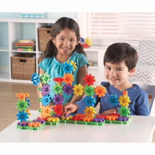 Learning Resources® Gears! Gears! Gears! Deluxe Building Set Perspective: top