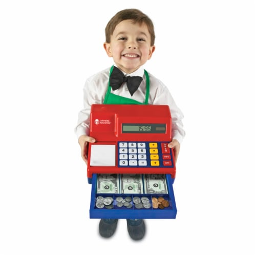 Learning Resources® Pretend & Play Calculator Cash Register Perspective: top