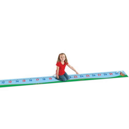 Learning Resources® Number Line Floor Mat Perspective: top