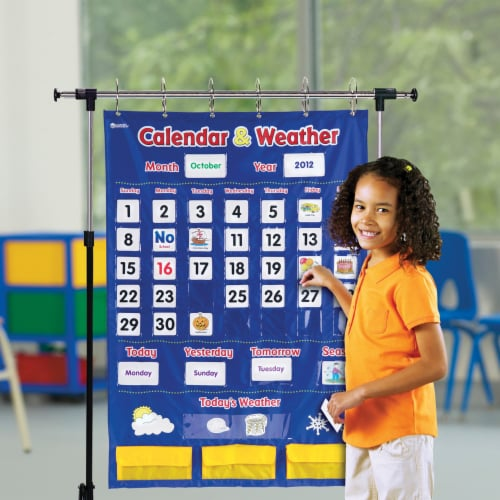 Learning Resources® Calendar and Weather Pocket Chart Perspective: top