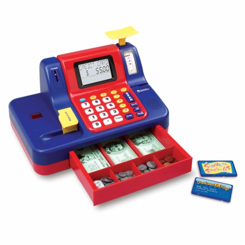 Learning Resources® Pretend & Play Teaching Cash Register Perspective: top