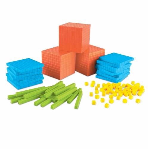 Learning Resources® Brights Base Ten Classroom Set Perspective: top