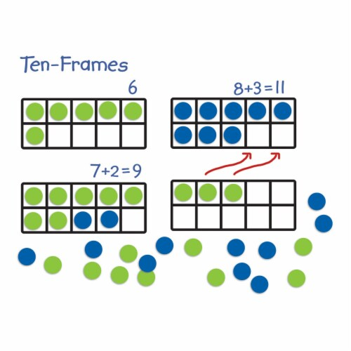 Learning Resources® Giant Magnetic Ten-Frame Set Perspective: top