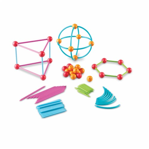 Learning Resources® Geometric Shapes Building Set Perspective: top