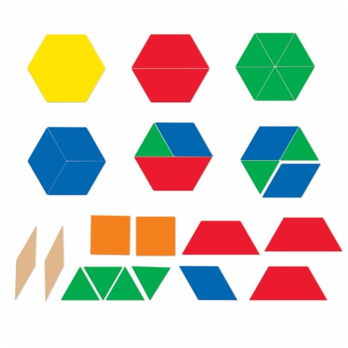 Learning Resources® Giant Magnetic Pattern Blocks Perspective: top